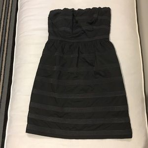 NWT charcoal gray JCrew strapless dress